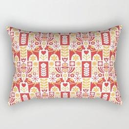Swedish Folk Art_Mid-Century Modern Rectangular Pillow