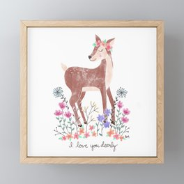 Love You Deerly Framed Mini Art Print