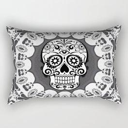Funny Mandala Skull Rectangular Pillow