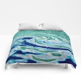 OCEAN ABSTRACT 2 Comforters