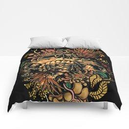 Skull Flora Comforters