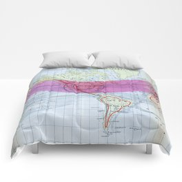 1873 Gilpin Map of the World Comforters