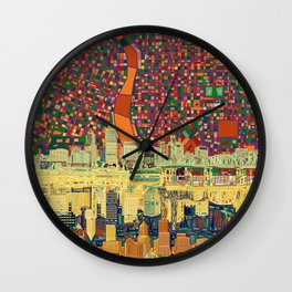 portland city skyline Wall Clock