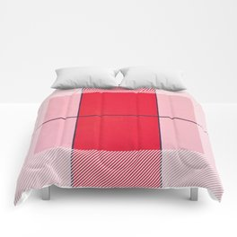 August - thin line graphic Comforters