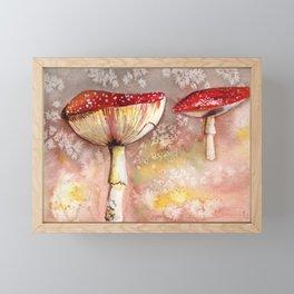 Fly Agaric Gouache Painting Framed Mini Art Print
