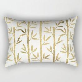 Bamboo Stems – Gold Palette Rectangular Pillow