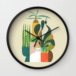 Still life with cat Wall Clock