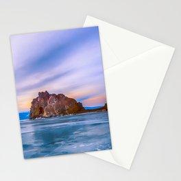 Shaman Rock, lake Baikal Stationery Cards