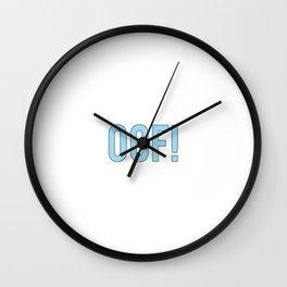 OOF! Wall Clock