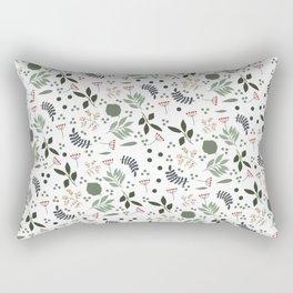 Blue automn leaves Rectangular Pillow