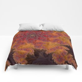 Heart of the Flame - Fractal Art Comforters