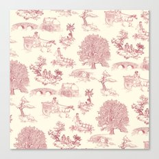 Shire Toile - Red Canvas Print