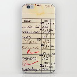 Library Card 23322 iPhone Skin