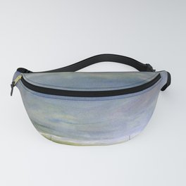Sea Shore Watercolor Ocean Landscape Nature Art Fanny Pack