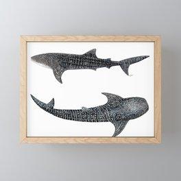 Whale sharks Framed Mini Art Print
