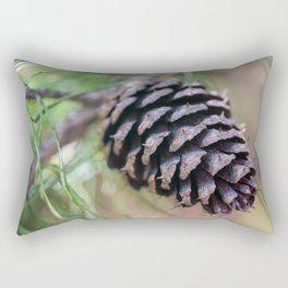 Macro Pine Cone Rectangular Pillow