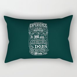 Lab No. 4 Experience Is Not What Happens To A Man Aldous Huxley Inspirational Quotes Rectangular Pillow