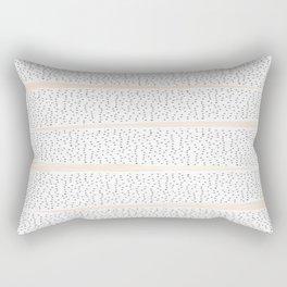 Pink Dalmation Polka Dot Stripes Rectangular Pillow