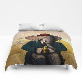 Mr. Preston J. Pachyderm visits the Sphinx Comforters