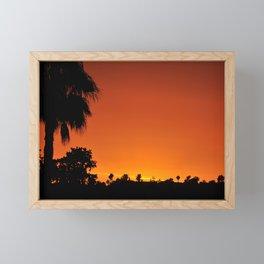 FIERY SUNSET SAN DIEGO SKY Framed Mini Art Print