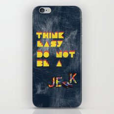 Think easy. iPhone & iPod Skin