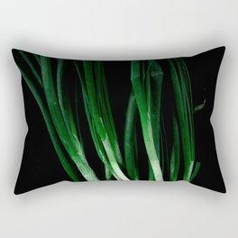 Green onion Rectangular Pillow