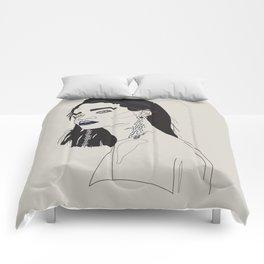 Rihanna blue Comforters