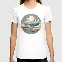 world maps T-shirts featuring Ocean Meets Sky by Terry Fan