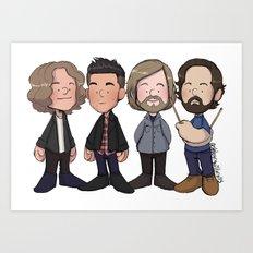 Dave, Brandon, Mark, and Ronnie Art Print