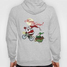 Santa on bike Hoody