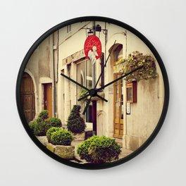 Le P'tit Paradis, Beaune France Storefront Wall Clock