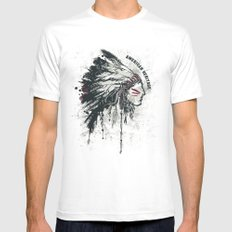 American Heritage (White) MEDIUM Mens Fitted Tee White
