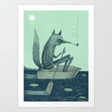 'Across The Lake' (Colour) Art Print