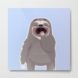 Lazy Sloth Metal Print