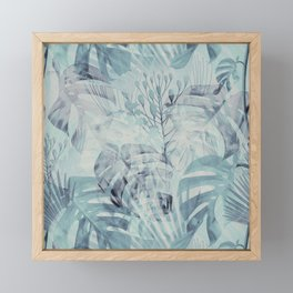 Tropical in Grey Framed Mini Art Print