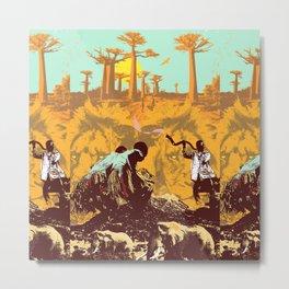 AFRICAN DANCE Metal Print