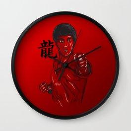 fist of fury Wall Clock
