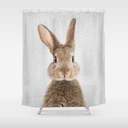 Rabbit - Colorful Shower Curtain