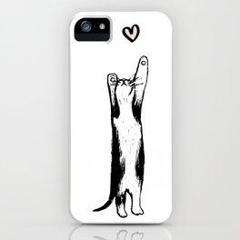 Long-Distance Lovecat iPhone Case