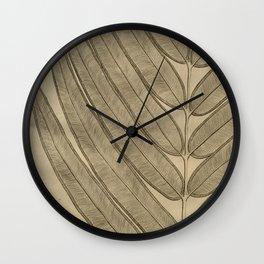 Naturalist Leaf Wall Clock