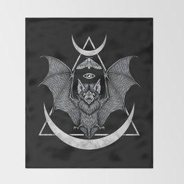 Occult Bat Throw Blanket