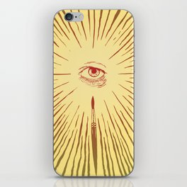 The Man With The Golden Eyeball iPhone Skin