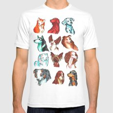 Brush Breeds Compilation Mens Fitted Tee White MEDIUM