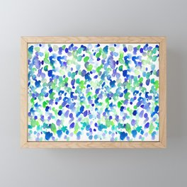 Safari Dots Framed Mini Art Print