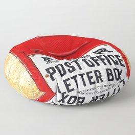 Old British Post Box Floor Pillow