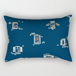 Paris Windows 2 Pattern Rectangular Pillow
