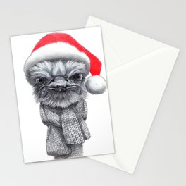 Christmas Ostrich red G145 Stationery Cards