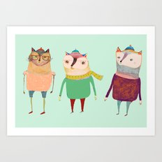 The Cats. Art Print