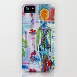 """Rearranged"" Original Mixed Media Acrylic Painting by Toni Becker, Artfully Healing iPhone Case"