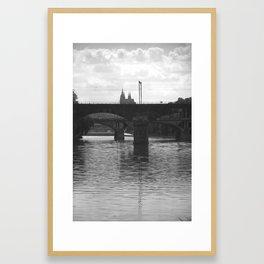 Bridges on Vltava Framed Art Print